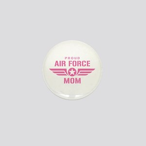 Proud Air Force Mom W [pink] Mini Button